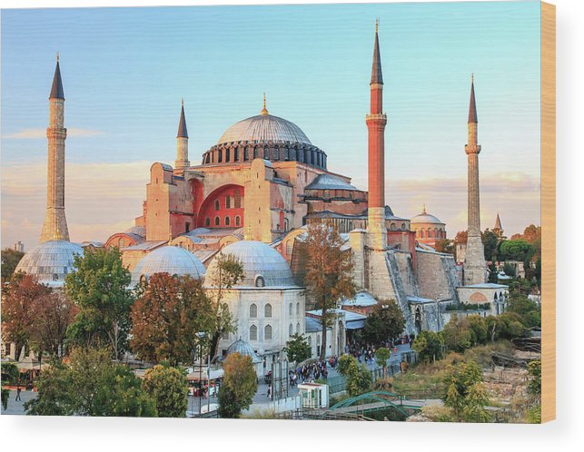 Asia Wood Print featuring the photograph Blue Mosque by Emily M Wilson