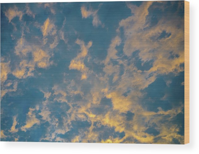 Sky Wood Print featuring the photograph Blue Sky by Marco Zottich