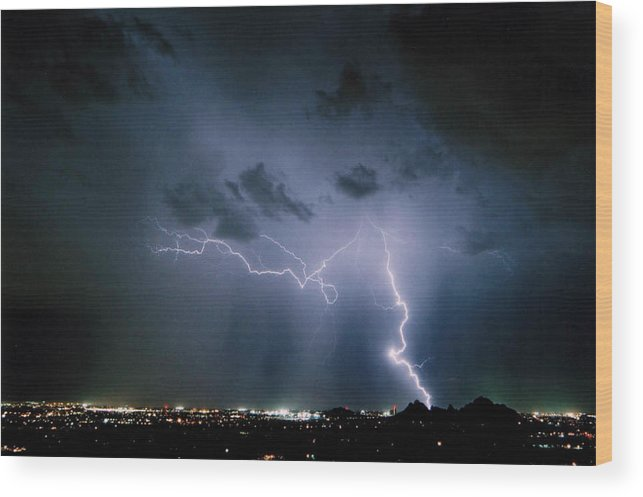 Arizona Wood Print featuring the photograph Blue Strike by Cathy Franklin