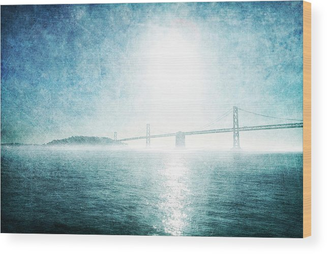 Wood Print featuring the photograph Blue Water Bridge by Guy Crittenden