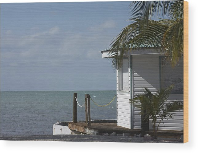 Boat House Wood Print featuring the photograph Boat House by Bonnes Eyes Fine Art Photography