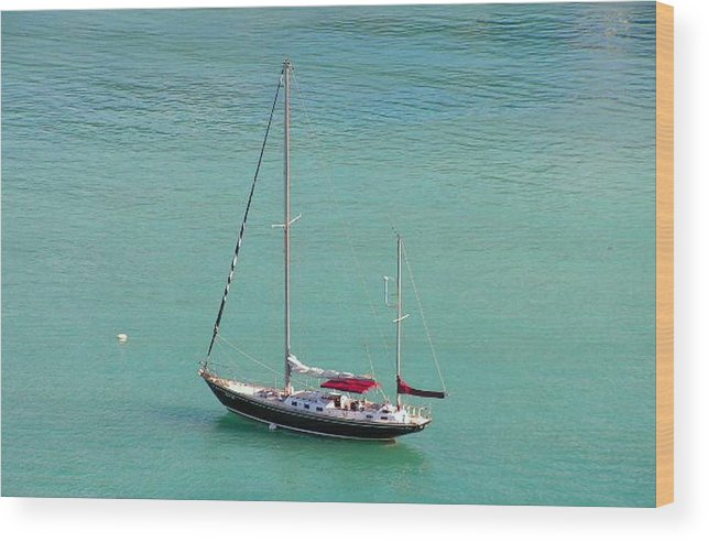 Photography Wood Print featuring the photograph Boat by Katina Cote