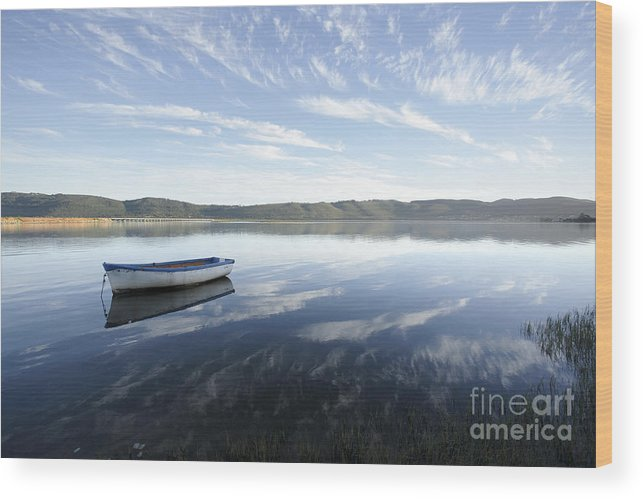 Boat Wood Print featuring the photograph Boat On Knysna Lagoon by Neil Overy