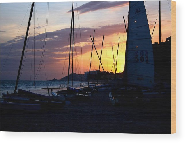 Boats Wood Print featuring the photograph Boats At Rest by Bob Gardner