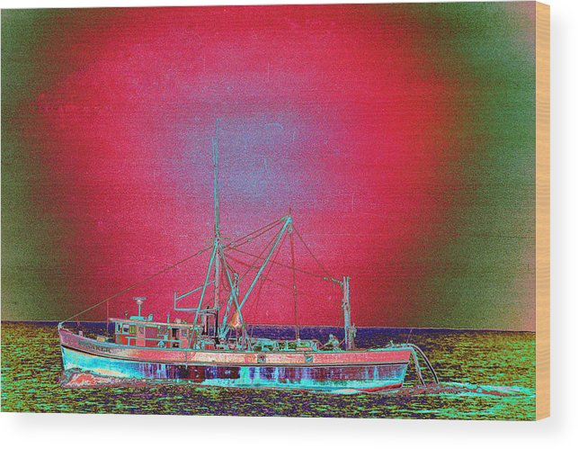 Fishing Boat Wood Print featuring the photograph Bonaker by Richard Henne
