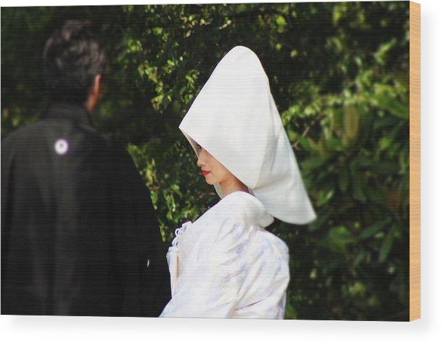 Japanese Wedding Wood Print featuring the photograph Bride In Uchikake by Shaun Pang
