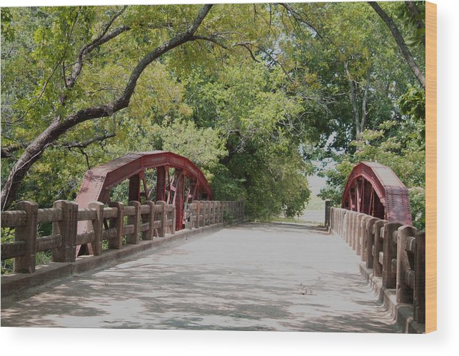 Landscape Wood Print featuring the photograph Bridge 1 by Chuck Shafer