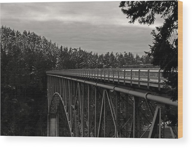 Photography Wood Print featuring the photograph Bridge To Dawn by Joel Brady-Power