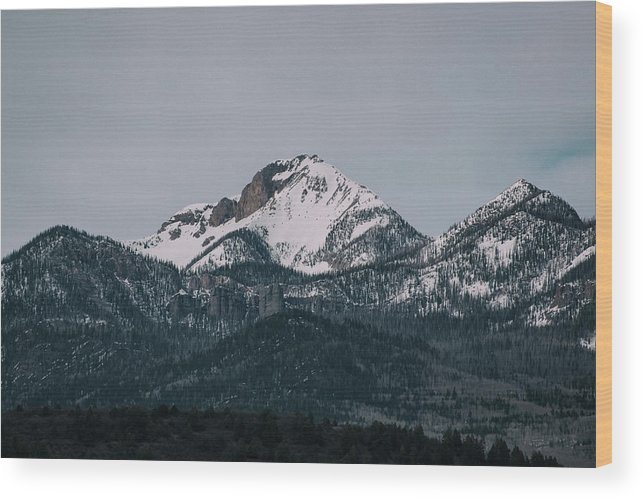 Landscape Wood Print featuring the photograph Brief Luminance by Jason Coward