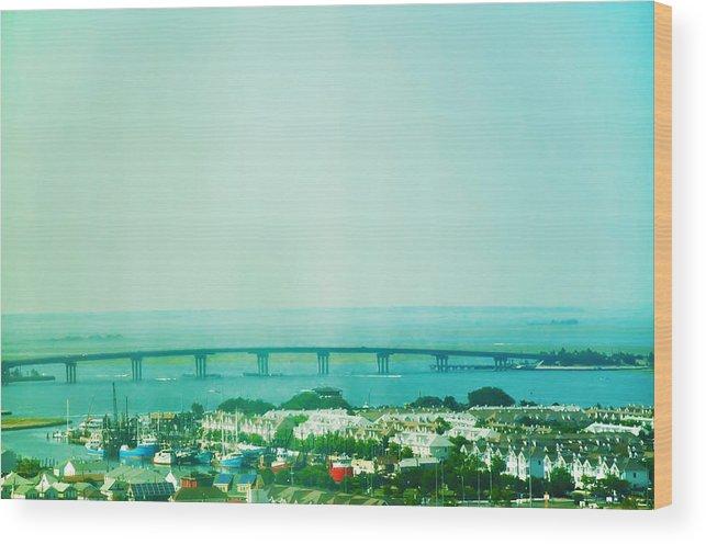 Brigantine Wood Print featuring the photograph Brigantine Bridge - New Jersey by Bill Cannon