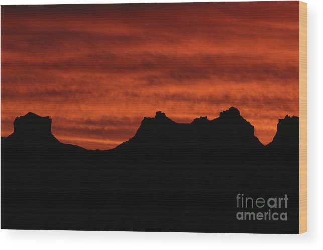 Nature Wood Print featuring the photograph Burning Sky by Rick Mann