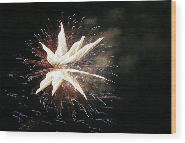 Fireworks Lights Wood Print featuring the photograph Butterfly Effects by Rabecca Primeau