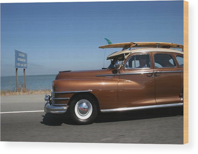 Vintage Car Wood Print featuring the photograph California Dreaming by Linda Russell
