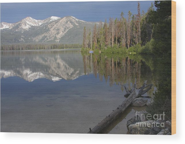 Stanley Lake Wood Print featuring the photograph Calm Before The Storm by Idaho Scenic Images Linda Lantzy