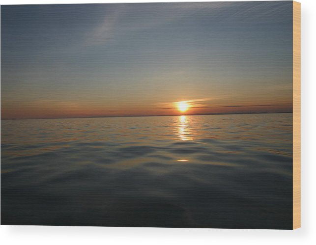 Sunset Wood Print featuring the photograph Calm Water Sunset by Kevin Dunham