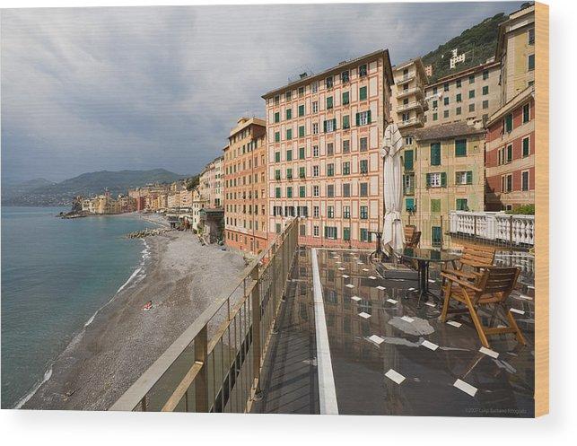 Italy Wood Print featuring the photograph Camogli 4 by Luigi Barbano BARBANO LLC