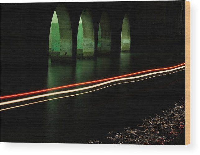 Venice Wood Print featuring the photograph Canal By The Firehouse In Venice At Night by Michael Henderson
