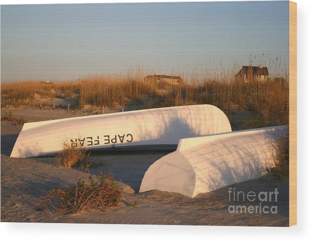 Boats Wood Print featuring the photograph Cape Fear Boats by Nadine Rippelmeyer