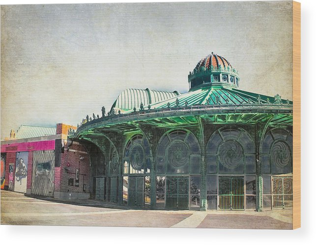 Asbury Park Wood Print featuring the photograph Carousel House At Asbury Park by Colleen Kammerer
