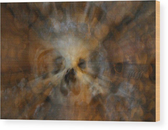 Wood Print featuring the photograph Catacombs Paris France by Jennifer McDuffie