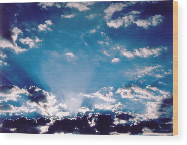 Clouds Wood Print featuring the photograph Catalina Sunrise by Greg Taylor