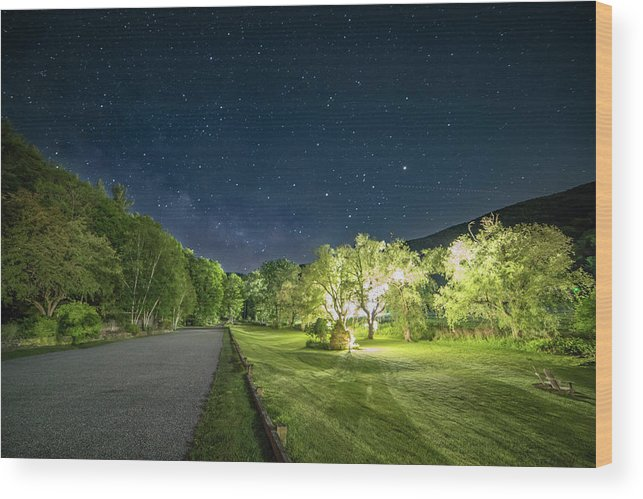 Milky Way Wood Print featuring the photograph Catamount Milky Way by R Scott Photography