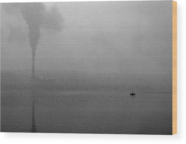 Solitude Wood Print featuring the photograph Cayuga Solitude by Jean Macaluso