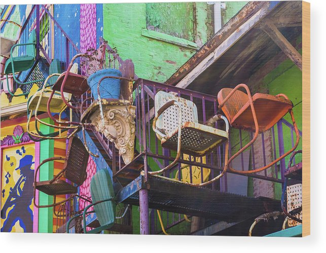 Pennsylvania Wood Print featuring the photograph Chairs by Stewart Helberg
