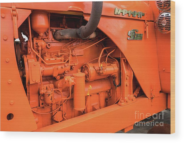 Tractor Wood Print featuring the photograph Champion 9g Tractor 03 by Rick Piper Photography