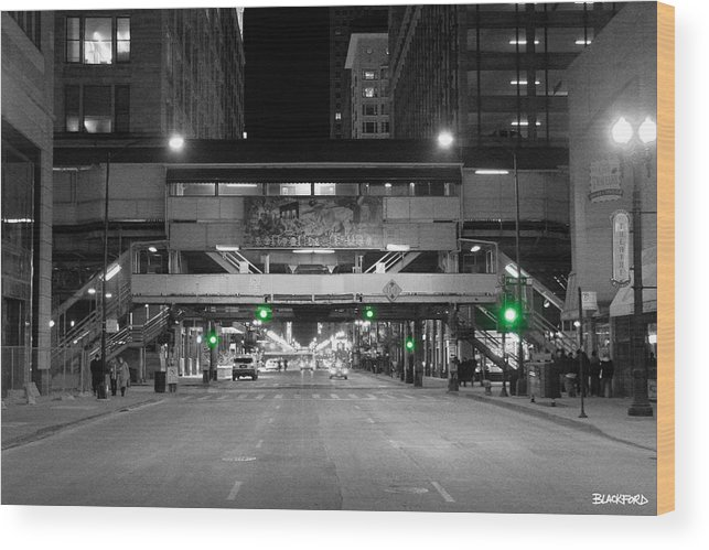 Chicago Wood Print featuring the photograph Chicago Train Station by Al Blackford