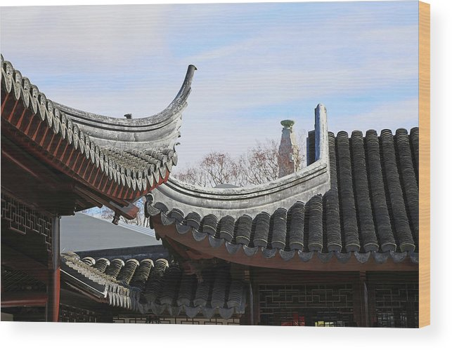 Roofs Wood Print featuring the photograph Chinese Rooflines by Nareeta Martin