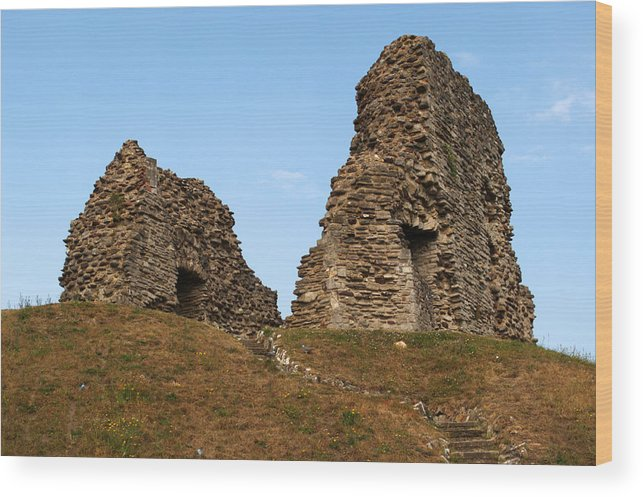 Christchurch Wood Print featuring the photograph Christchurch Castle by Chris Day