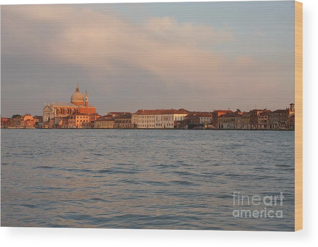 Venice Wood Print featuring the photograph Church Of The Redentore In Venice Across The Giudecca Canal by Michael Henderson