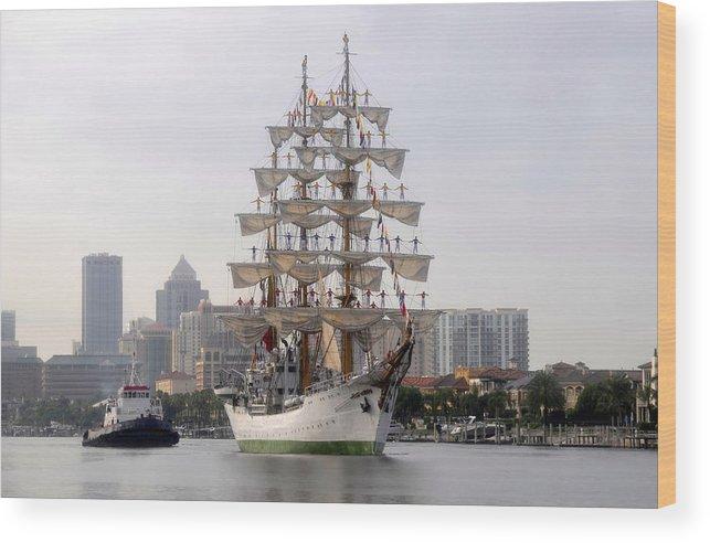 Tampa Florida Wood Print featuring the photograph Cigar City Sailing by David Lee Thompson