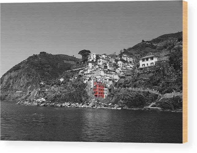 Cinque Terre Wood Print featuring the photograph Cinque Terre 3b by Andrew Fare