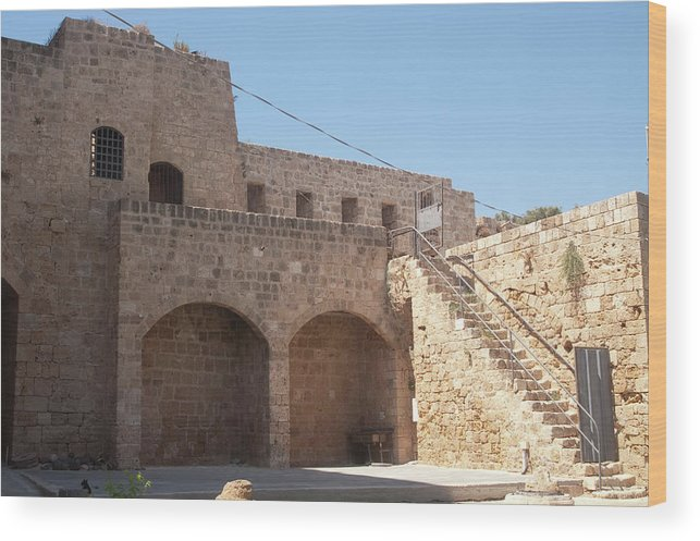 Citadel Wood Print featuring the photograph Citadel In Akko by Adam Gladstone