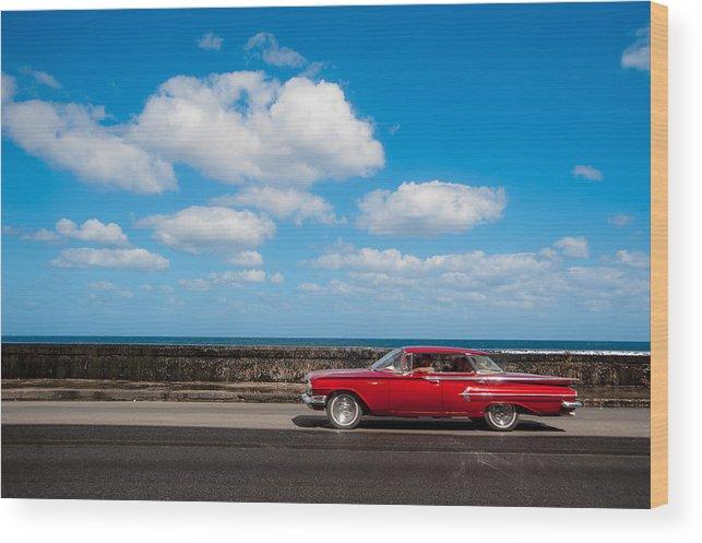 Cuba Wood Print featuring the photograph Classic Cuba Car V by Rob Loud