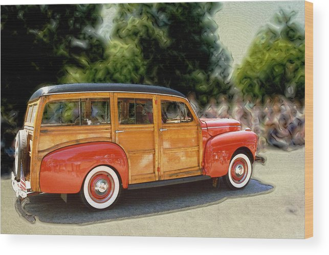 Classic Automobile Wood Print featuring the photograph Classic Woody Station Wagon by Roger Soule