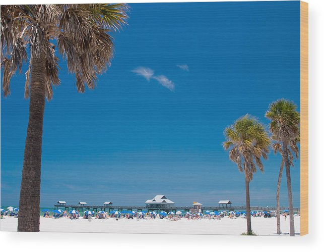 3scape Wood Print featuring the photograph Clearwater Beach by Adam Romanowicz