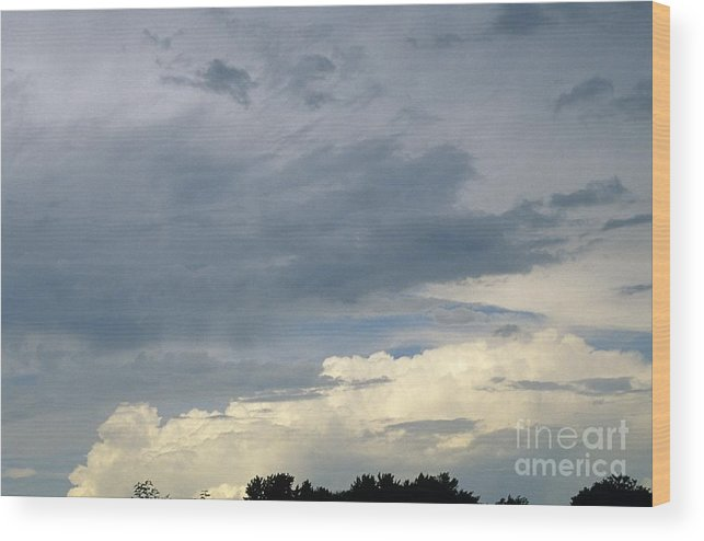 Storm Clouds Wood Print featuring the photograph Cloud Cover by Erin Paul Donovan