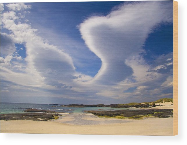 Scotland Wood Print featuring the photograph Cloudscape Ardnamurchan by John McKinlay