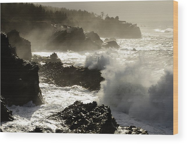 Lighthouse Wood Print featuring the photograph Coastline Oregon by Bob Christopher