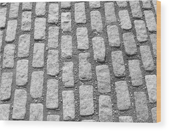 Wood Print featuring the photograph Cobblestone 1 by Stacy Devanney