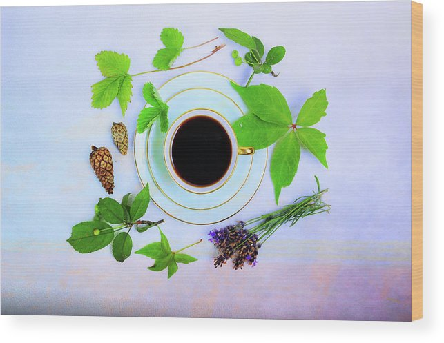 Love Wood Print featuring the photograph Coffee Delight by Randi Grace Nilsberg