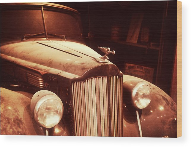 1937 Wood Print featuring the photograph Collecting Dust In The Garage by Mike Martin