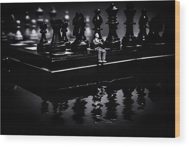 Blurred Wood Print featuring the photograph Contemplating Your Next Move by Marnie Patchett