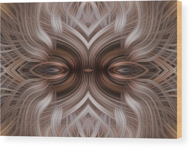 Abtract Wood Print featuring the photograph Controled Confusion by Linda Phelps