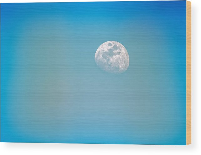 Blue Wood Print featuring the photograph Cool Blue by Richard Keer