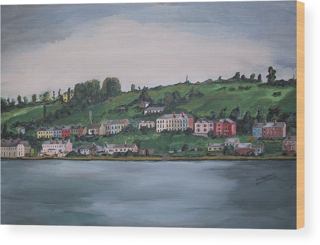 Landscape Wood Print featuring the painting Cork City Ireland by Kevin Callahan