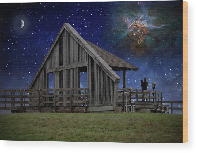2d Wood Print featuring the photograph Cosmic Observation Deck by Brian Wallace